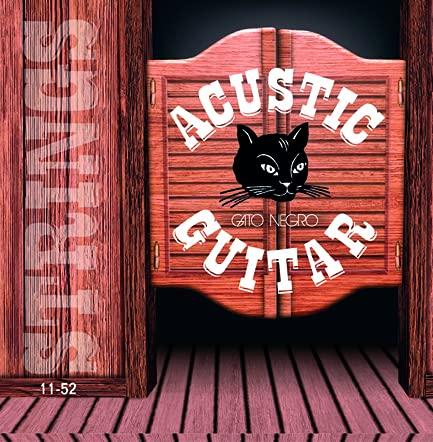 Juego de cuerdas para guitarra acústica Gato Negro Acustic Guitar 11-52