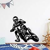 yaonuli Etiqueta de la Pared de Moda Racing Bike Vinyl Wallpaper Habitación de los niños Etiqueta de la Pared Decorativa 45X60cm