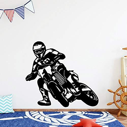 yaonuli Mode Wandaufkleber Racing Bike Vinyl Wallpaper Kinderzimmer Dekorative Wandaufkleber 45X60cm