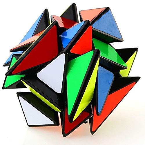 Khosd Velocidad Paquete Cubo Mágico Speedcube Magic Puzzle Cubos, Super-Durable Vivos,Rompecabezas Cubos Juegos De Memoria Adultos(Negro)