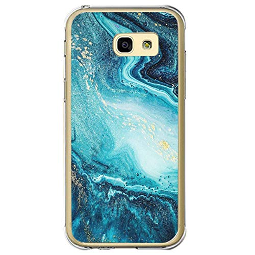 Hülle Kompatibel mit Samsung Galaxy A3 2017 Hülle Silikon Transparent Schutzhülle TPU Silikon Bumper Handyhülle Ultradünn Stoßfest 360 Grad Bumper Weiche Cover für Galaxy A3 2017 Design Marmor Case