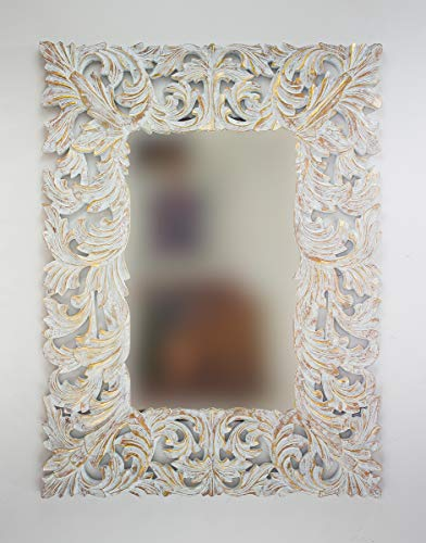 Rococo Espejo Decorativo de Madera DeconoLise de 120x90...