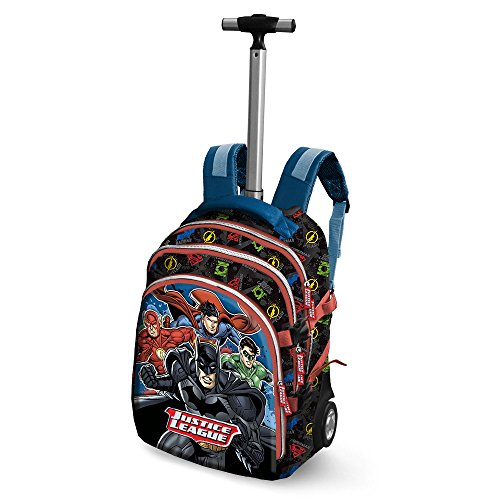 Justice League Bounce-Travel Trolley-Rucksack Zaino Casual, 28 liters, Blu