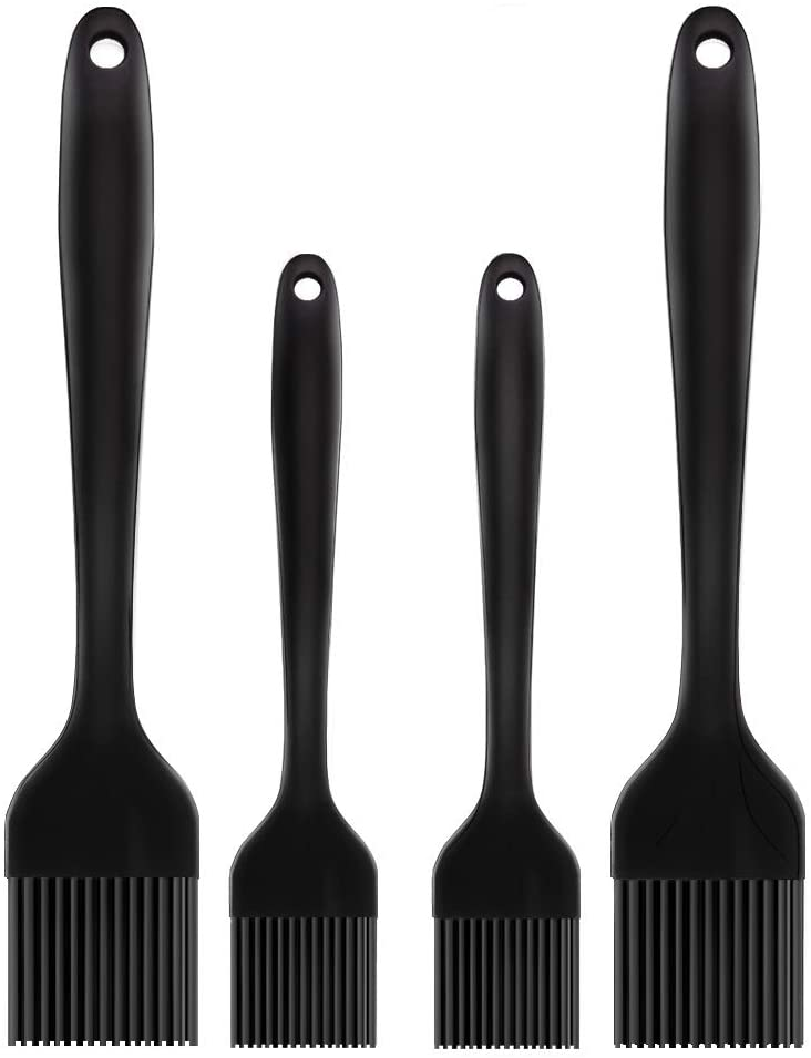 Include 2 Pieces Stainless Steel/Basting Brush Oil Heat Resistant Pastry Brushes and 8 Pieces Silicone Brush Heads for BBQ Grill Baking Kitchen Cooking 10 Pieces Stainless Steel Basting Brush Set