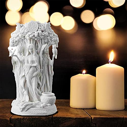 Goddess Statues Living Room Decor, Resin Supplies Dandu Triple Goddess Sculpture, Religion Celtic Dandu Cast Bronze Figurine Greek Mythology Decor for Office Kitchen Home Decor-B