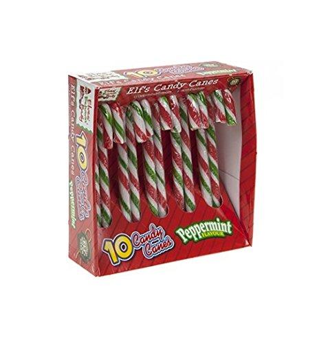 PMS 10 Bastón De Caramelo Rayado Elf - Decoraciones Comestibles del Arbol De Navidad