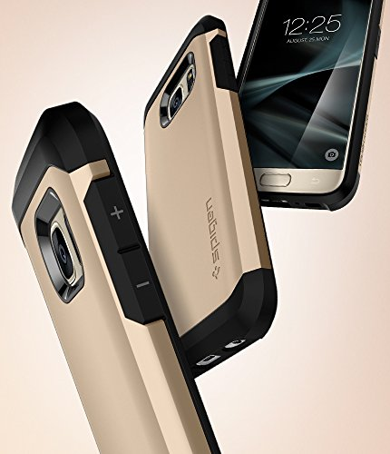 Spigen Tough Armor Galaxy S7 Case with Extreme Heavy Duty Protection and Air Cushion Technology for Samsung Galaxy S7 2016 - Champagne Gold
