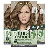 Clairol Natural Instincts Semi-Permanent Hair Dye, 7 Dark Blonde Hair Color, 3 Count