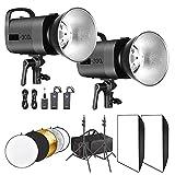 Neewer Photo Studio Strobe Flash Light and Softbox Lighting Kit:(2)300W Monolight...