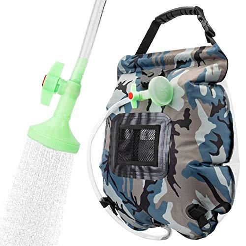 VIGLT Portable Shower Bag for Camping 5 gallons/20L Solar Shower Bag for...