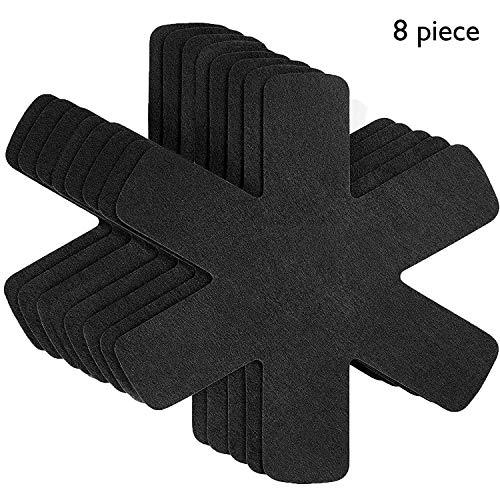 Proteggi pentole e salvapadelle - Set 8 pezzi - Lunghezza 38 cm - Perfetti per pentole e padelle antiaderenti in acciaio inox, ghisa, ceramica