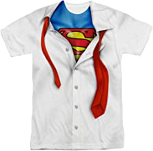 DC Comics Adult Superhero Costume T Shirt I'm Superman, Batman, The Flash & Wonder Woman w/Stickers