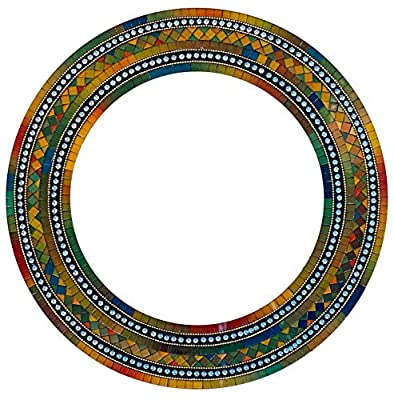 Zorigs Mirror Wall Art Décor – Handcrafted Decorative Wall Round Mirror by Zorigs