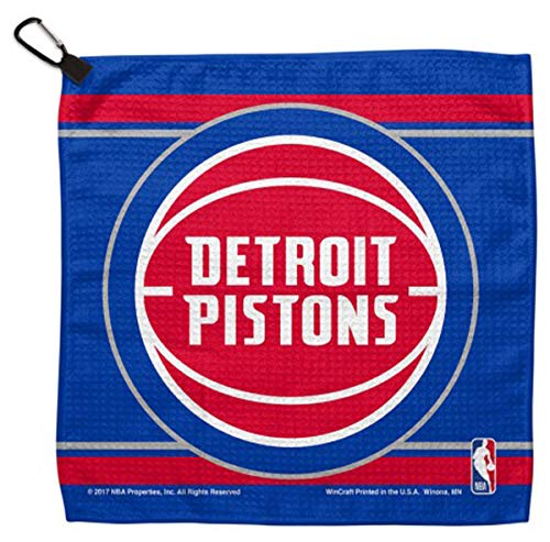 WinCraft NBA Detroit Pistons Waffle Golf Towel 13 x 13 inches