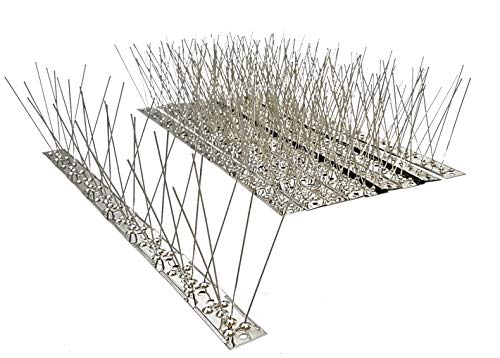 10 St. (5 m) Taubenspikes 3-reihig auf Edelstahlleiste, Taubenabwehr, Vogelschutz - DIREKT VOM Hersteller