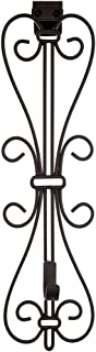 [Front Door WREATH HANGER] - Elegant Design | ADJUSTABLE Hook Length for Tall and Small Doors | PADDING to Prevent Damage like Scratch and Dents | Heavy Duty Cast Iron Metal Hangar - (Brown)