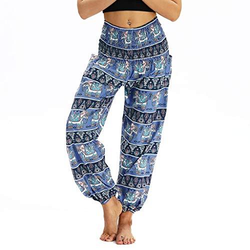Broeken voor dames, harembroek, yogabroek, pilates, broek, fitness, broek, hoge taille, losse bohemian strach pants, unisex harembroek