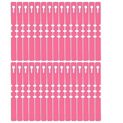 Hemoton 200 Stks Waterdichte Plant Labels Kwekerij Markers Tuin Tags Tuin Classificatie Tag Bonsai Pot Herkenner Voor Boerderij Tuin Outdoor (Roze)