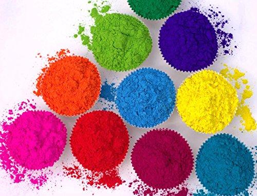 25 x Holi Pulver - Gulal - Festival Farbbeutel - Fotoshooting - 10 Farben