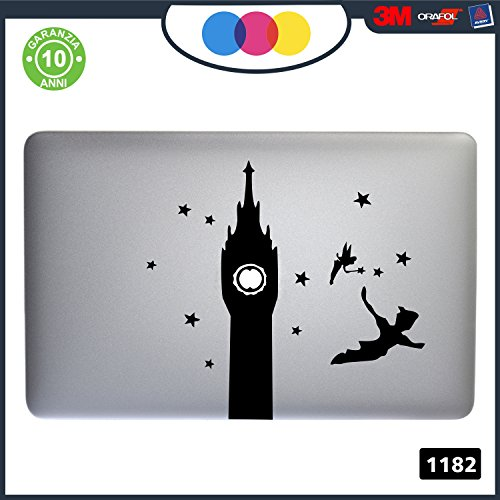 Sardegna Services Adhesivo Peter Pan – Apple MacBook Pro Air Laptop Sticker Decal Skin, MacBook Air 11' 13' 15' 17' (11' - 13' MacBook)