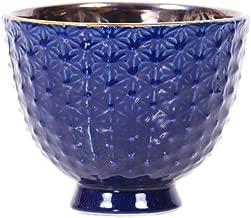 Little Green House Ceramic Blue Round Vase - Small