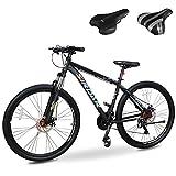 Sirdar S-800 29 inch 27 Speed Mountain Bike Double Disc Brake Full Suspension Fork, Aluminum...