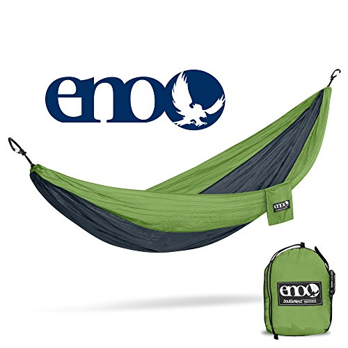 ENO Eagles Nest Outfitters - DoubleNest Hammock, Portable Hammock for Two, Lime/Charcoal