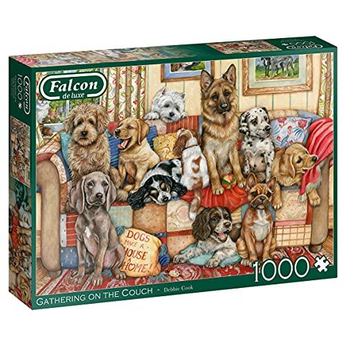 Jumbo- Falcon de Luxe-Gathering on The Couch 1000 Piece Jigsaw Puzzle Puzle Piezas, Multicolor (11293)