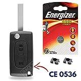 Coque Plip Clé Boitier de Télécommande Peugeot Partner 107 207 308 307 407 807 3008  Switch  Pile CR1620 Energizer -...