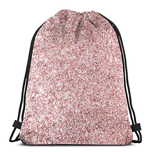 jingqi Farbe Pinterest Von Rose Gold Glitter Sporttaschen Drucken,Gymsack,Kordelzug Taschen,Reisesackpack,Leichter Turnbeutel,Sport Cinch Pack