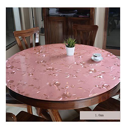 &Nappes Nappe ronde imperméable en PVC Nappe transparente en verre nappe de table (Couleur : E, taille : Round-60cm)