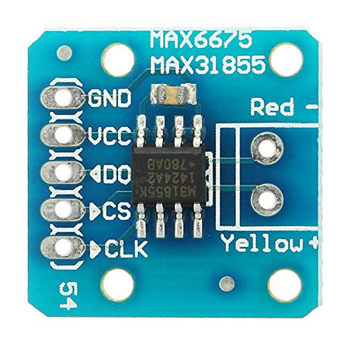 Ywzhushengmaoyi MAX31855 MAX6675 SPI K Thermocouple Temperature Sensor Module Board Geekcreit for A-r-d-u-i-n-o - products that work with official A-r-d-u-i-n-o boards 5Pcs Electronics Module Parts
