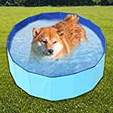 Lifesongs Hundepool Schwimmbad Hundeplanschbecken 60 cm Hundebad Doggy Pool Haustierpool Katzenpool Wasserbad PVC-rutschfest Mit Ablassventil
