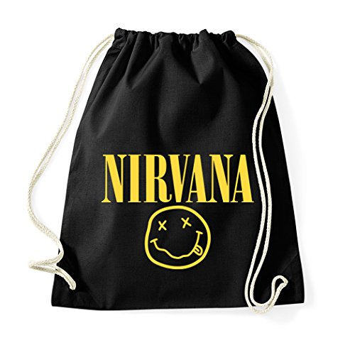 trvppy Turn Bolsa Modelo NIRVANA/bolsa mochila bolsa de deporte bolsa de tela Fashion Hipster, color negro, tamaño Talla única