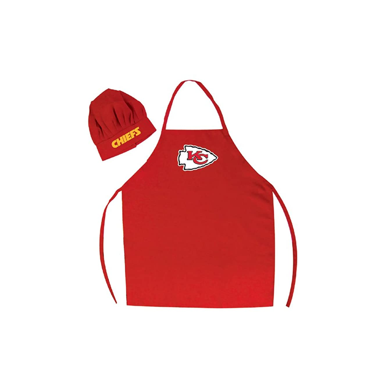 Men's Chef Hat & Apron - NFL - Kansas City Chiefs - Team Logo BBQ Barbeque Cook Grill Home Tailgating Picnic