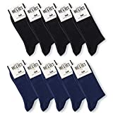 Mat & Vic's Calze, ottima qualità e comodità, OEKO-TEX 100-35 36 37 38 39 40 41 42 43 44 45 46 (10 paia, Business Colors, UK 9-12 / EU 43-46)