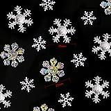 Howaf 300 Stück Schneeflocken Konfetti, Weihnachten Winter deko Schneeflocke Filz Tabelle Konfetti Tischdeko, Weihnachtsschmuck , Hochzeit, Geburtstag, Jahr, Weihnachts Dekorationen - 2