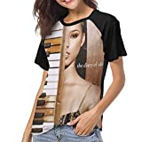 LANDONL Alicia Keys The Diary of Alicia Keys Womens Short Sleeve Raglan Baseball Tshirt Black L