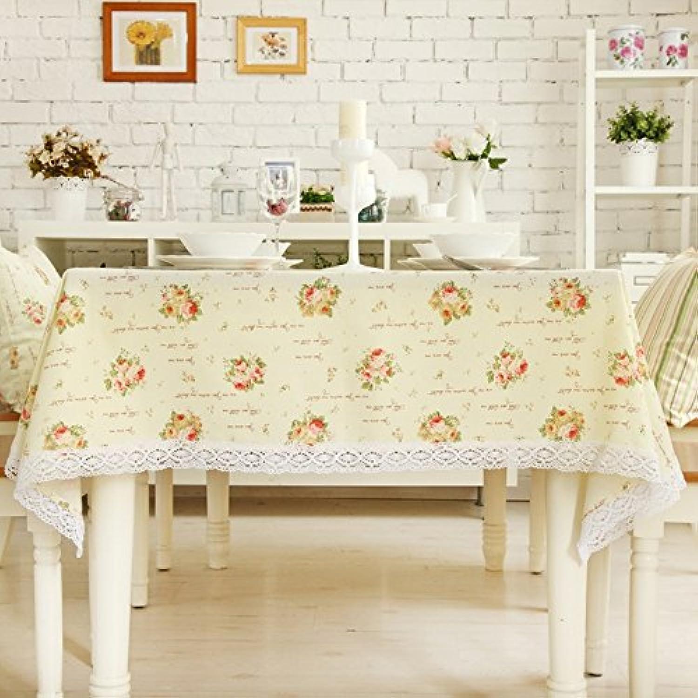 JCRNJSB® Tischdecke Tischdecke Stoff Europäische Stil Ländliche Kaffeetisch Moderne minimalistische Linie Spitze Tischdecke Englisch Rosa Waschbar und pflegeleicht ( größe   140210cm ) B0791W6HW4 Billiger als der Preis  | Bestellu