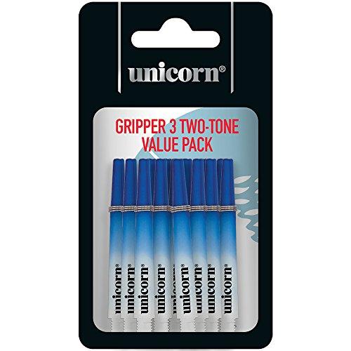 Unicorn Gripper 3 Zweifarbiger Schaft, mittlere Gewinde, blau, One Size, 5 Stück
