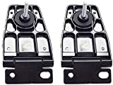 2000 jeep hard top - APDTY 140026 Liftgate Back Glass Hinge Set Fits Rear Left & Right 1997-2006 Jeep Wrangler TJ/ 1991-1995 Wrangler YJ With Hardtop (Replaces Mopar 5013723AB, 5013722AB)