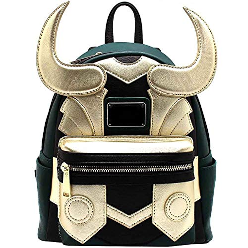Loki PU Mochila de Cuero Asgard Prince Mini Bolso Thor Broth