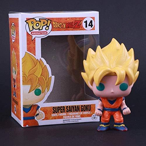 WUluMEI Funko Pop Animation Dragon Ball Z GT Funimation 14 Super Saiyajin Sohn Gokou Goku Actionfigur Figura de Vinilo Figura