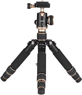 Andoer ミニ三脚 カメラ三脚 超軽量 旅行三脚 自由雲台付き 3段調整 最大57CM 3kg荷重 アルミ合金 コンパクト安定性 デジタルカメラ 一眼レフカメラ ミラーレスカメラ アクションカメラなど対応
