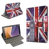 UC-Express Schutz Tasche für Vodafone Tab Prime 6 Hülle Tablet Schutzhülle Cover Hülle Bag UK Flagge Etui