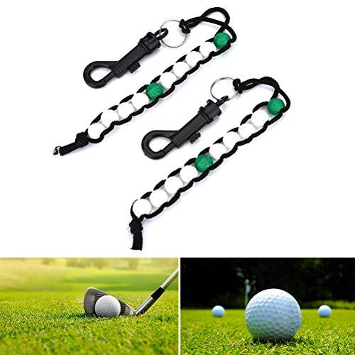 Jeantet Sport Golf Stroke Score Counter Clicker Keeper Bead Bracelets With Clip Value 1/2 Pack, Durable Light Weight Good Looking Plastic Nylon For Men Women Kids (2 Pack)