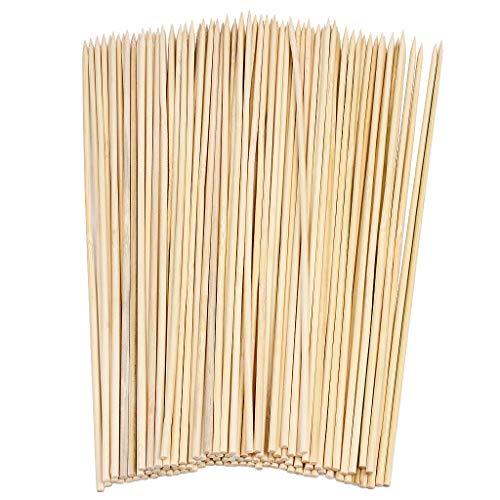 YICOTA Pinchos de Paleta de bambú, 100 Piezas de brocheta de Barbacoa, Palos de bambú por Barbecue, Brochetas, Fruta, Sándwich, Hoguera, Fiesta de Grill, Fiesta de Bufé–25cm