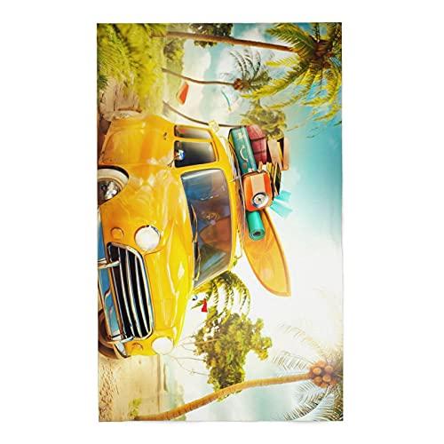 onetoze Toalla de Playa Camping Cars Toallas de Acampada Vans Toallas para Piscina Natación Seque Rápidamente, Absorbente Toallas Ducha Viaje Picnic, 80x130cm