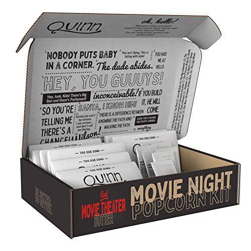 %23 OFF! Quinn Microwave Popcorn - Made with Organic Non-GMO Corn - Movie Theater Style Extra Butter...