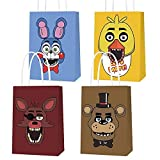 Party Bags for Five Night Party Supplies, Goody Candy Favor Treat Bags Including 4 Patterns for Kids Adults Birthday Party Decorations Toy Story Party Supplies- 16 PCS